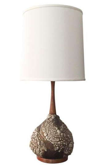 Mid-Century Danish Pottery Lamp