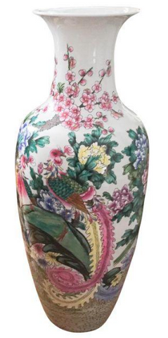 Giant Vintage Chinese Floor Vase