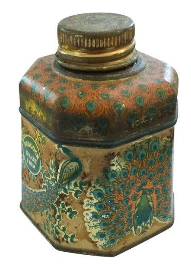 Antique Fountain Pen Ink Bottle - Peacock Bleu