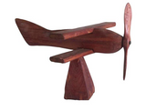 1940's Handmade Wood Airplane
