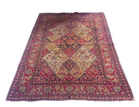 Antique Levar Kerman Persian Carpet, Rug