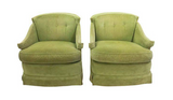 Mid Century Signed Tomlinson Hollywood Regency Swivel Chairs
