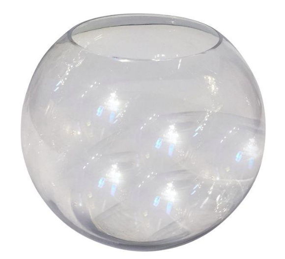 Large Clear Glass Fishbowl Terrarium Vase