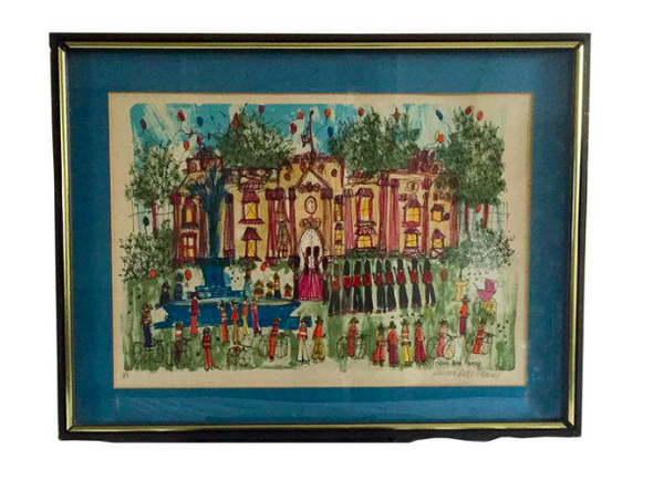 Listed Artist Susan Pear Meisel Lithograph Print - Changing of the Guard
