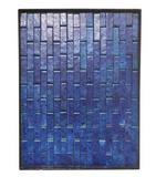 Large Mid Century Framed Blue Tile Slab - Wall Art