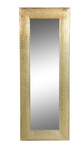 Vintage Woven Gilt Wood Full-Length Mirror