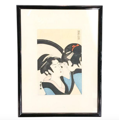Old Asian Geisha Print
