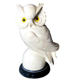 Carved Vintage Italian Owl Statue, Signed