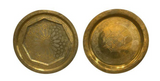 Pair, Old Large Brass Etched Brass Platters