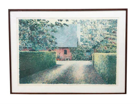 Listed Artist Mike Pease Lithograph - FarmYard