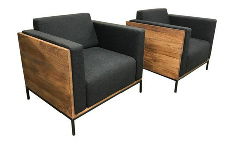 Teak Cube Chairs - a Pair