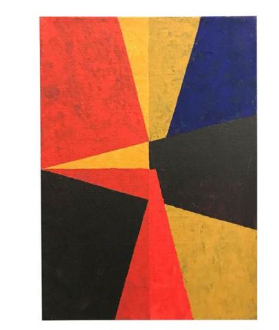 Listed Artist Allen Kubach Geometric Abstraction Painting