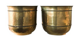 Large Vintage Brass Planters, Vases - a Pair