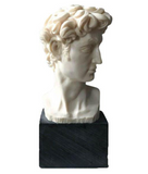 Vintage Bust of David, Signed A Santini