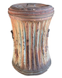 1920's Architectural Steampunk Trash Can, Signed