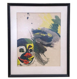 Mid Century Abstract Clown Painting