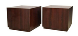 Pair, Mid Century Milo Baughman Rosewood Cube Tables