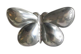 Mid Century Polished Aluminum Butterfly Serving Piece