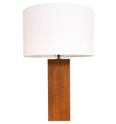 Mid Century Laurel Studio Wood Rectangular Column Lamp