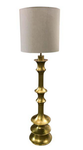 Vintage Curvy Brass Floor Lamp