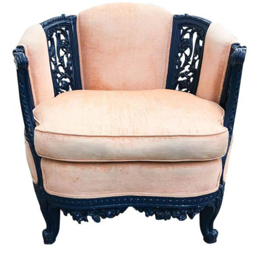 Antique Carved Asian Inspired Chair in Navy – Reposed NY Vintage and  Antique Home Decor