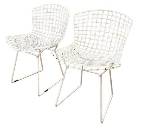 Mid-Century Knoll Bertoia Chairs - A Pair
