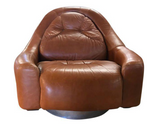 Mid Century Pace Leather Swivel Chair