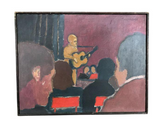 Mid Century Painting - Guitar - Signed Rosenhouse