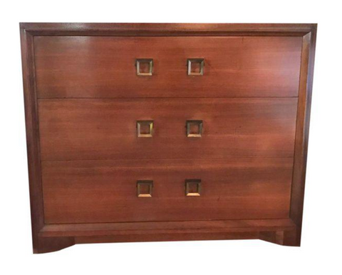 "Mid Century Signed Cavalier ""Stow Away"" Chest of Drawers"
