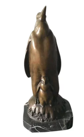 Large Early Bronze Penguin Sculpture