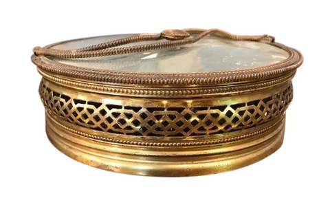 Art Deco Brass Lidded Trinket Box