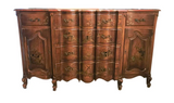 Early Union National French Provincial, Chinoiserie Sideboard, Signed