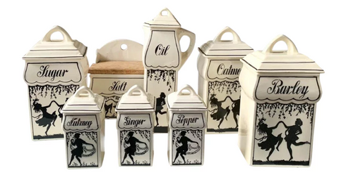 1930's Renate German Kitchen Ceramic Canisters