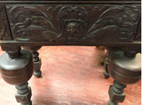 Antique Jacobean Carved Oak Hall Table