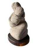 R Licea Cast Cement Sculpture - Mother and Child