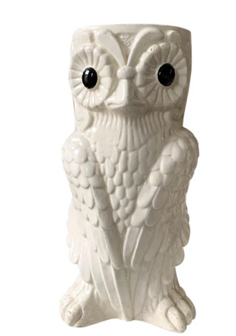 Mid Century Owl Umbrella Stand, Vase - Made in Spain
