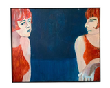 Large Oil on Canvas - Red Heads