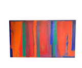 Mid Century Abstract Painting - Signed Litt, 1977