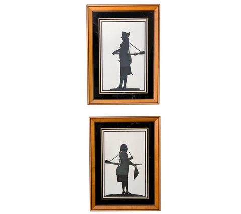 Pair, Silhouettes, Framed
