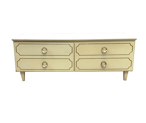 Hollywood Regency End Low Chest of Drawers, End of Bed Bench