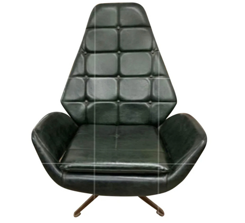Mid Century Retro Swivel Chair, 4 Star Base