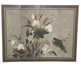 Vintage Hand Painted Asian Screen - Lucien Leinfelder