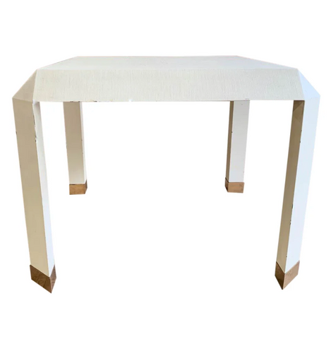Mid Century Karl Springer Off White Table