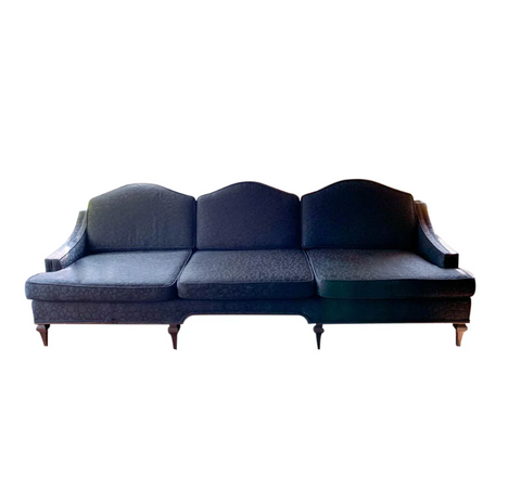 Mid Century Custom Curved Back Sofa