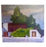 Mid Century Painting - Behind the Wall - Signed, 1977