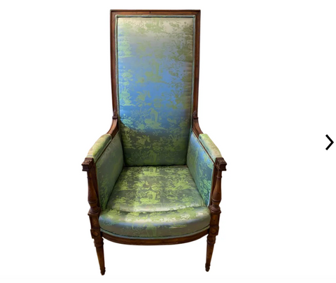 1940's High Back French Style Chair
