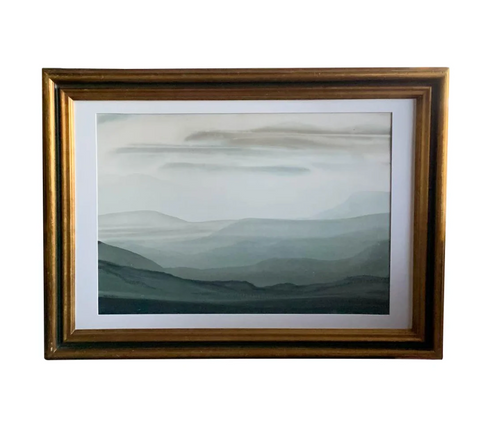 Vintage Landscape Print in an Antique Gilt Wood Frame