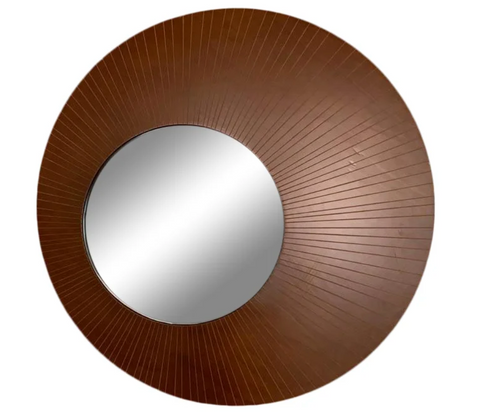 Large Modern Round and Oblong Mirror