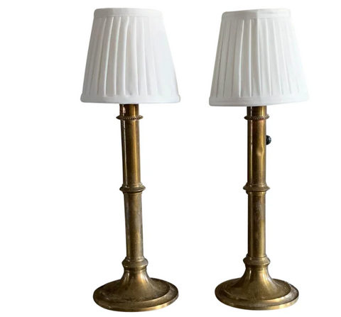 Pair, Art Deco, Faux Bamboo Lamps
