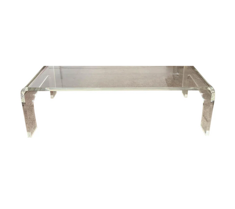 Lucite Waterfall Coffee, Cocktail Table